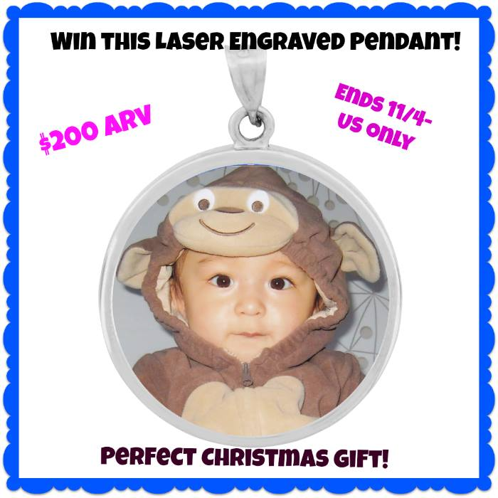 laser engraved pendant