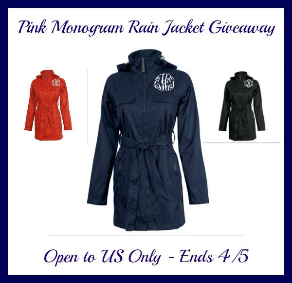pink monogram rain jacket