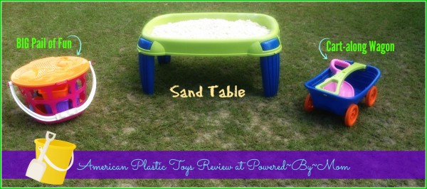 Powered-By-Mom #Review of American Plastic Toys' Sand Table and Beach Collection   Toys #MadeInAmerica