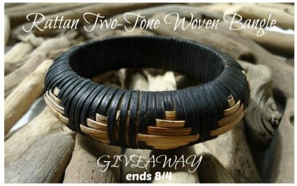 Rattan-two-tone-bangle-bracelet