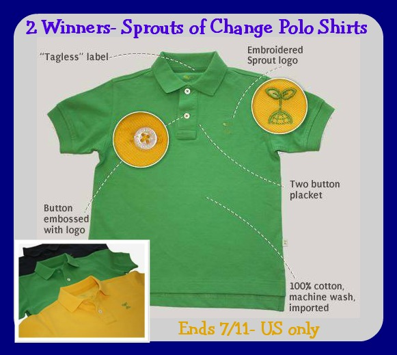 sprouts of change polo shirts