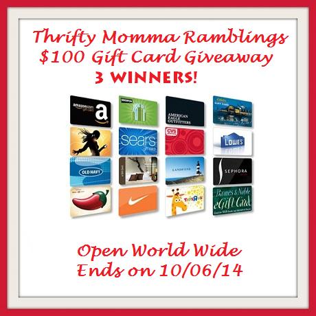 100 gift card 3 winners