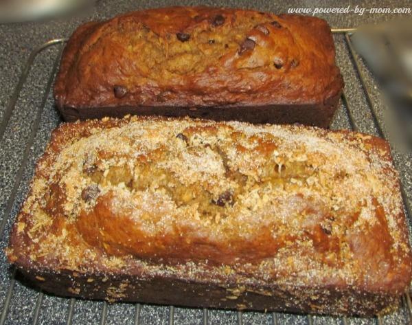 coconut banana bread loaves