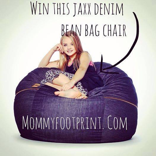 jaxx denim bean bag chair