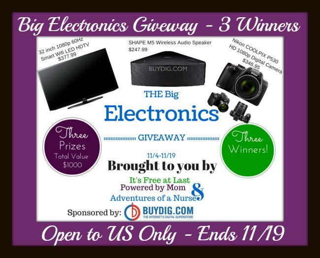 big electronics giveaway button