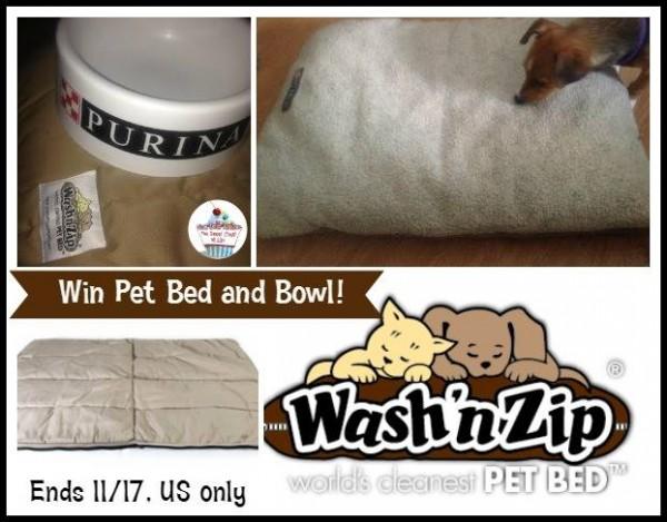 wash n zip pet bed